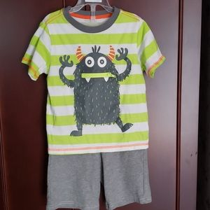 5T Boy's Shorts Outfit